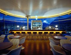 Bar 360° - Stylish Bar with all glass walls in the middle of an austrian valley. Amazing views on the mountains! Innsbruck, Austria