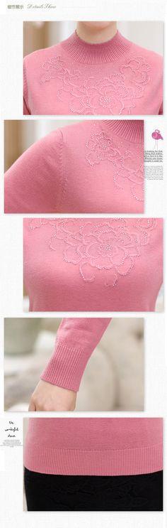 Aliexpress.com : Make yourself the most beautiful üzerindeki Güvenilir dresse Tedarikçilerden 2016 orta yaşlı bayanlar kaşmir kazak yeni sonbahar ve kış yüksek yaka kazak kazak kazak kadın kazaklar satın alın.