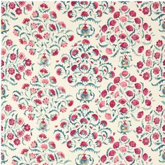 Sanderson Sojourn Prints & Embroideries Ottoman Flowers Fabric Collection 225348 225348