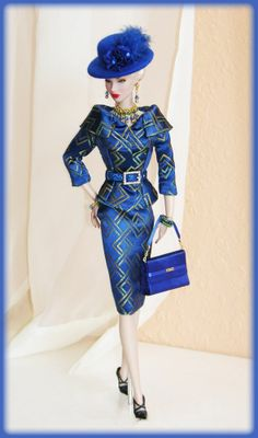 OOAK Fashions for Silkstone / Vintage barbie / Fashion Royalty -- Brocade silk