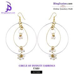 Combine your love for circles & pearls in one with these infinity #earrings! #BlingStation #handmade #fashion #jewelry