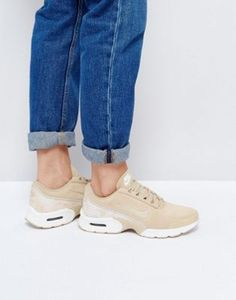 Светло-коричневые замшевые кроссовки с рисунком змеиной кожи Nike Air Max  Jewell Premium 3a4dcb005