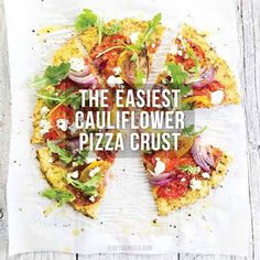 Try this FAST and EASY Cauliflower Pizza Crust for a delicious and gluten-free alternative to regular pizza crust. Dairy-free and egg-free option available.