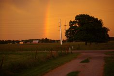 Late day rainbow