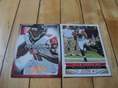 JULIO JONES 2013 Panini Absolute Score (2) Card Lot Atlanta Falcons Receiver