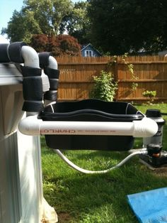 1000 images about pvc pipe on pinterest pvc pipes pool for Above ground pool storage ideas