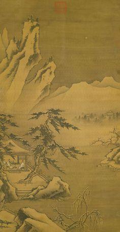 Ma Yuan(馬遠) ,  寒岩积雪图 台北故宫藏(一说钟礼)