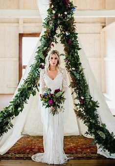 Fresh Floral-Inspired Wedding Dress -Love Me Do Photography