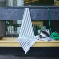 Marimekko Turkish Towels Also called Hammam towels, Turkish towels are much lighter in weight and faster drying than standard bath towels but even more absorbent and durable. Weighing only a third of what typical terry towels . Terry Towel, Marimekko, Turkish Towels, Hanging Chair, House Design, Inspirational, Interiors, Home Decor, Decoration Home