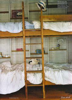 simple, rustic bunk that sleeps four