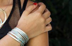 Modern Bracelet. Contemporary Jewelry. Handmade by Kairajewelry