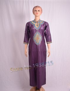 Wholesale 2016 New Fashion Design African Bazin Riche African Embroidery Women Clothing Long Dress For Lady