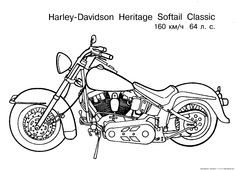 harley davidson coloring pages to print free motorcycle coloring page letscoloringpagescom