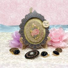Card made using Ornate Frame Stand Cards from the Antique Chic Collection by Hunkydory Crafts http://www.hunkydorycrafts.co.uk/acatalog/Ornate-Frame-Stand-Cards-ANT105.html#SID=326