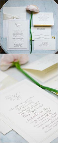 Wordings For Wedding Invitations Classic Wedding Invitations, Elegant Invitations, Wedding Invitation Suite, Invites, Southern Weddings, Simple Weddings, Monogram Wedding, Creamy White, Cursive