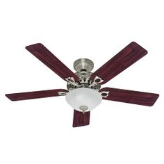 Hunter Fan Company 53058 The Astoria 52-Inch Ceiling Fan with Five Cherry/Maple Blades and Light Kit, Brushed Nickel Hunter Fan Company,http://www.amazon.com/dp/B00ESVXR7K/ref=cm_sw_r_pi_dp_9fRFsb1TGDRXXPXY     Bought 4 of these