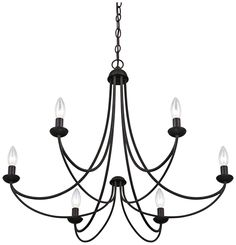 "Quoizel Mirren 28"" Wide Imperial Bronze 6-Light Chandelier - #3F671 