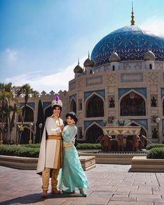 Aladdin And Jasmine, Disney Cosplay, Disney Dreams, Disney Love, The 4, Disney Parks, Disneyland, Disney Characters, Artwork