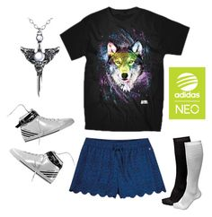 """""""Live Your Style with adidas NEO Label: Contest Entry"""" by tynke-catalog ❤ liked on Polyvore featuring adidas NEO and neorunway"""