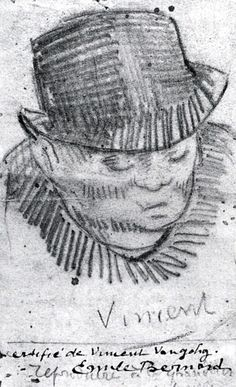 Head of a Man with Hat, 1886			-Vincent van Gogh