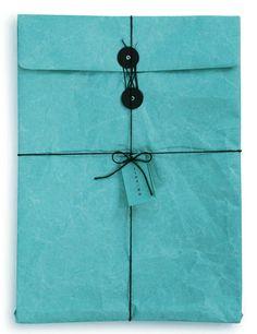 blue wrap with black details