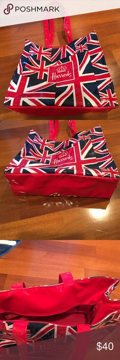 Harrods bag Harrods bag plastic great gift from London England Harrods Bags Totes