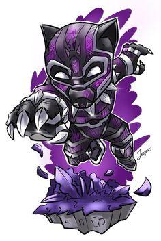 Chibi Marvel, Marvel Art, Marvel Heroes, Chibi Superhero, Avengers Cartoon, Marvel Cartoons, Marvel Drawings, Cartoon Drawings, Black Panther Drawing