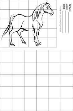 free art grid worksheets - Google Search