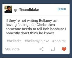 #The100 #Bellarke thats awesome acting for you: