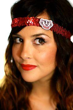 Wisconsin Bucky Badger Sequin Headband
