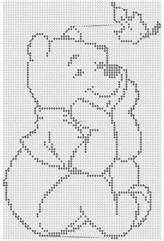 Alpha friendship bracelet pattern added by CutePrince. Bobble Stitch Crochet Blanket, Baby Afghan Crochet, Disney Cross Stitch Patterns, Cross Stitch Charts, Cross Stitches, Dishcloth Knitting Patterns, Crochet Stitches Patterns, Crochet Diagram, Filet Crochet Charts