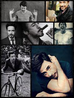 It's a collage of Robert Downey Junior. Good Looking Actors, Looking Up, Downey Junior, Marvel X, Robert Downey Jr, Man Alive, Attractive Men, Tony Stark, Avengers