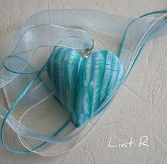 Polymer clay Heart Pendant | Flickr - Photo Sharing!