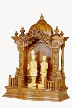 Small size home temple / Mandir, Buy from Turnkey Interior Services & Indian… [post_tags New Door Design, Pooja Room Door Design, House Design, Wooden Temple For Home, Temple Design For Home, Temple Room, Home Temple, Indian Temple Architecture, Mandir Design