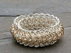 chain maille jewelry ring - Chain Maille Jewelry Making: How to Size Chain Maille Rings and Bracelets from Jewelry Making Daily #chainmaille