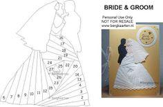 Irisvouwen: Bride and Groom