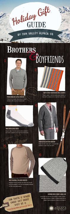 Introducing our first installment of 2014 Holiday Gift Guides - a collection of the perfect gifts for everyone you need to shop for this year! Our Brothers & Boyfriends Gift Guide features a variety of gifts for those younger, hard-to-shop-for guys. #HolidayGiftGuide2014 #SweaterWeather