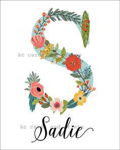 This item is unavailable Nursery Name, Sadie, Baby Names, Kids Room, Monogram, Girl Stuff, Nail Ideas, Handmade Gifts, Floral