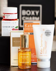 🚨Charm Alarm! 🚨 Here's our first sneak peek for September Luxe! Our Luxe members will be getting either 1 Byroe Tomato Serum OR 1 Kate Somerville  ExfoliKate®Intensive Exfoliating Treatment OR 1 Farmacy Beauty CHEER UP brightening vitamin C eye cream with acerola cherry ♥️ If you want access to items like this plus early access to our #BoxyPopUP that launched today, upgrade now! 🤗 #BoxyCharm #BoxyLuxe