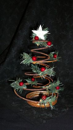 Vintage Bedspring Christmas Tree by CleosBackyard on Etsy