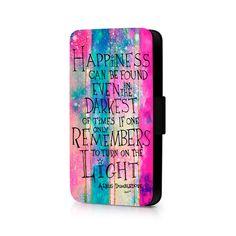 £8.95 GBP - Harry Potter Happiness Quote Phone Flip Case #ebay #Electronics