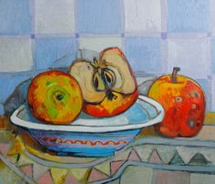 Original Painting Free Shipping  plate with by ARTGALERYPAINTING