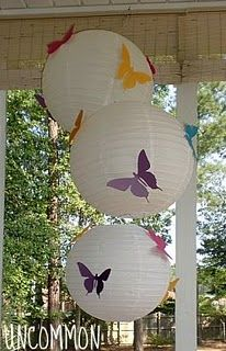 Butterfly Breakfast Party: Paper Lanterns with Butterflies