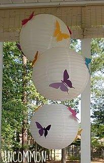 Butterfly Breakfast Party: Paper Lanterns with Butterflies