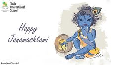 Janmashtami is the day when we celebrate the birth of Lord Krishna. May the blessings of Lord Krishna beautify each moment of your life. Happy Birthday Krishna, Janmashtami Celebration, Boarding Schools In India, Bal Gopal, Happy Janmashtami, India School, Laddu Gopal, Lord Krishna, Interesting Facts