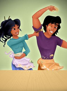 My kind of relationship ; Prince-Princess Series: Aladdin and Jasmine (Aladdin was the only Disney movie I never watched until I was Disney Princess Jasmine, Disney Princess Art, Disney Fan Art, Disney Love, Disney Magic, Disney Stuff, Disney Pixar, Disney And Dreamworks, Disney Characters
