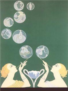 The Bubbles - Erté