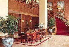 """The Cornhusker (a Marriott Hotel) Lincoln, Nebraska """"Husker Nation"""" We stood on those stairs for a wedding picture."""