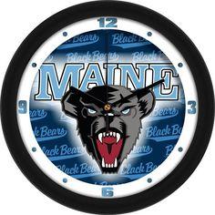 Mens Maine Black Bears - Dimension Wall Clock