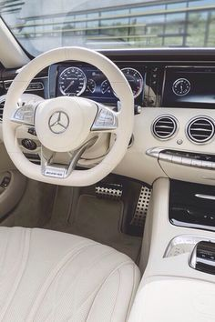 Interior of Mercedes! These cars are the safest in the world! Go get you a Mercedes! Mercedes Auto, Mercedes S Class Coupe, Mercedes Sport, Mercedes S63, Sexy Cars, Hot Cars, Carl Benz, Car Goals, Collector Cars